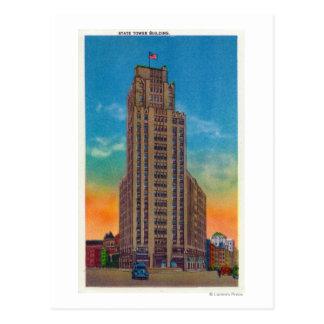 州タワーの建物の外観 ポストカード