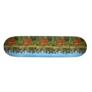 州立公園の境界印のSavannasの背景 18.4cm ミニスケートボードデッキ