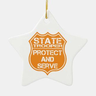 州警察官のバッジは保護し、役立ちます セラミックオーナメント