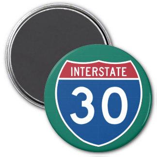州連帯の30 (I-30)ハイウェーの印 マグネット
