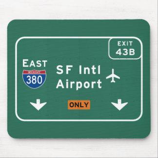 州連帯サンフランシスコカリフォルニアSFO空港I-380 E - マウスパッド