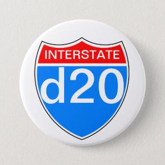 州連帯d20 7.6cm 丸型バッジ