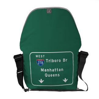 州連帯NYCニューヨークシティTriboroのBrマンハッタン メッセンジャーバッグ
