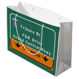 州連帯NYCニューヨークシティTriboroのBr FDRドライブ ラージペーパーバッグ