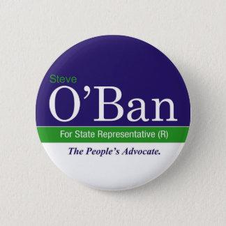 州RepのためのO'Ban。 ボタン 5.7cm 丸型バッジ