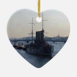 巡洋艦のオーロラ セラミックオーナメント