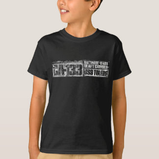 巡洋艦のトレドの重いTシャツ Tシャツ
