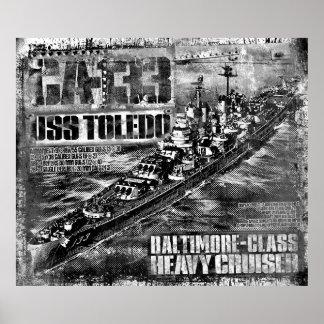 巡洋艦のトレド重いポスター ポスター