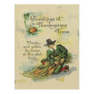 巡礼者の感謝祭の挨拶 ポストカード