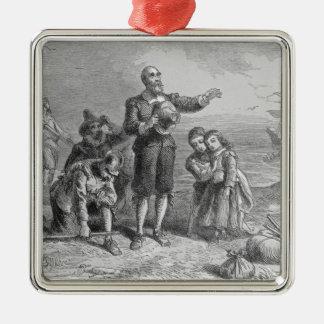 巡礼者の着陸、1620年 メタルオーナメント
