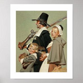 巡礼者家族。 ファインアートポスター プリント