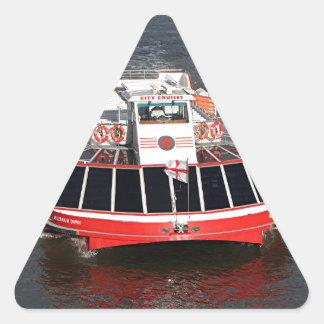 巡航のボート、Thames川、ロンドン 三角形シール