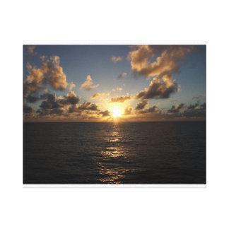 巡航の覆いからの大西洋上の日没 キャンバスプリント