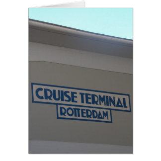 巡航ターミナル、Wilhelminaの波止場、ロッテルダム カード