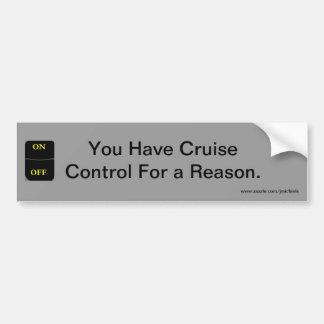 巡航制御の理由 バンパーステッカー