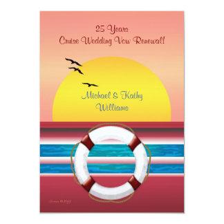 巡航記念日の誓約の更新-日没の招待 カード