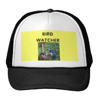 巣のアオカケス、鳥監視人 メッシュ帽子