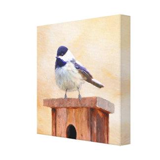 巣箱の《鳥》アメリカゴガラ キャンバスプリント