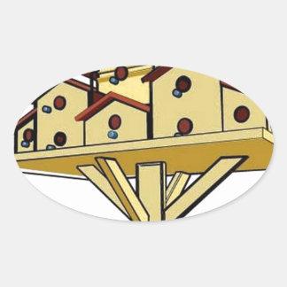 巣箱 楕円形シール