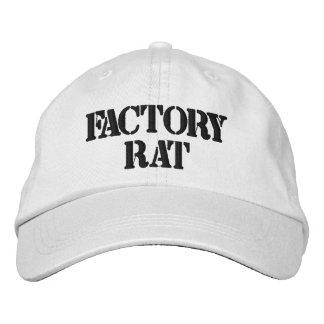 工場ラットの名前入りで調節可能な帽子 刺繍入りキャップ