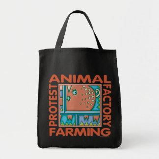 工場農業 トートバッグ