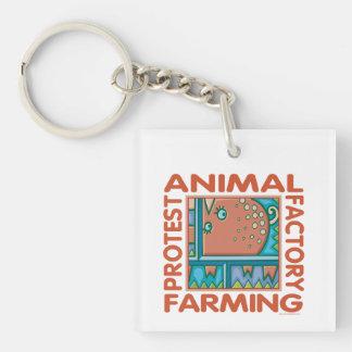 工場農業、動物権 キーホルダー