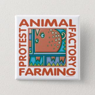 工場農業 5.1CM 正方形バッジ