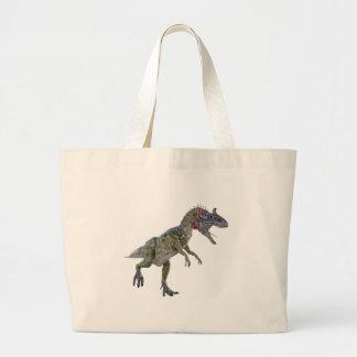 左に走っているCryolophosaurus ラージトートバッグ
