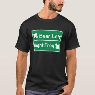 左に進んで下さい Tシャツ