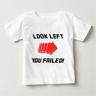 左に-失敗見て下さい! ベビーTシャツ