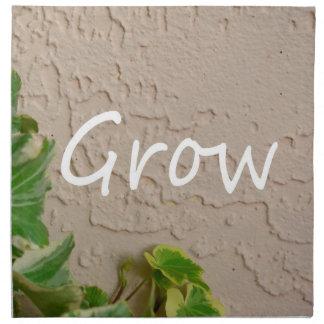 左の単語のキヅタは庭のデザインの端正な自然を育てます ナプキンクロス