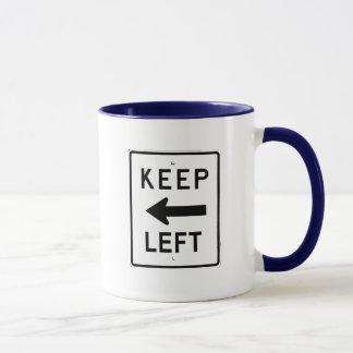 左の印を保って下さい マグカップ