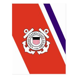 左ストライプを-競争させている米国の沿岸警備隊 ポストカード