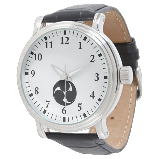 左三つ巴(素描き) 腕時計