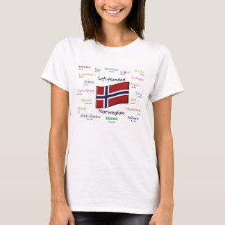 左利きのノルウェーのTシャツ Tシャツ