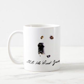 左利きのピレネー山脈の凝視のマグ コーヒーマグカップ