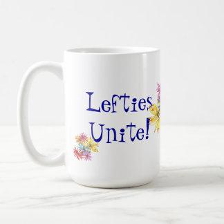 左利きの左利きの花の芸術 コーヒーマグカップ