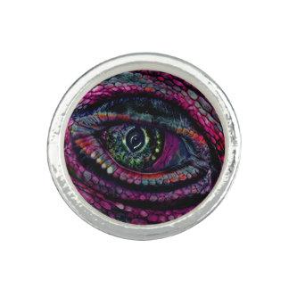 巧妙なオアシスによるドラゴンの目の純銀によってめっきされるリング 指輪
