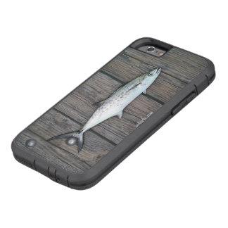 巧妙な漁師の素朴な木製の魚 TOUGH XTREME iPhone 6 ケース