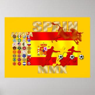 巨大でスペインのなサッカーのFutbolトロの旗ポスター ポスター