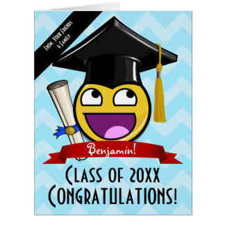 巨大で素晴らしい顔の卒業のカスタムで大きいカード ビッググリーティーングカード