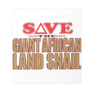 巨大なアフリカのカタツムリの保存 ノートパッド