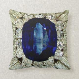 巨大なサファイアのエメラルドのダイヤモンドのアクセサリー クッション