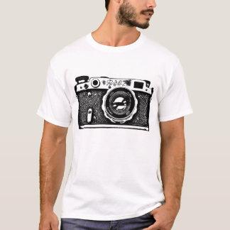 巨大なソビエトロシアのなカメラ-黒 Tシャツ