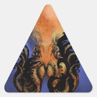 巨大なタコかKraken 三角形シール