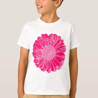 巨大なピンクのガーベラのデイジー Tシャツ