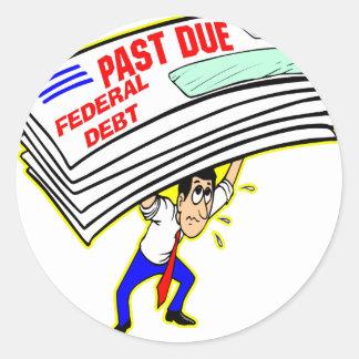 巨大な中央政府負債の期限経過の押しつぶす納税者 ラウンドシール