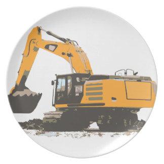 巨大な土の掘削機 プレート