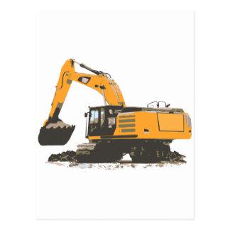 巨大な土の掘削機 ポストカード