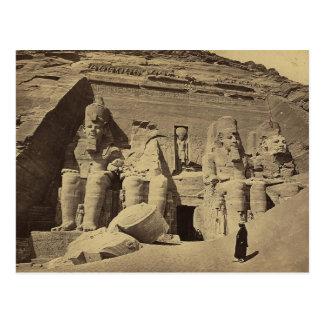 巨大な姿、Abu Sunbulの素晴らしい寺院 ポストカード